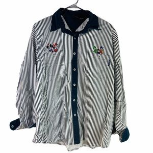 Vintage Mickey Unlimited 90's Stripe Button Down